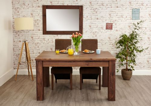 Shiro Solid Walnut Extendable Dining Table